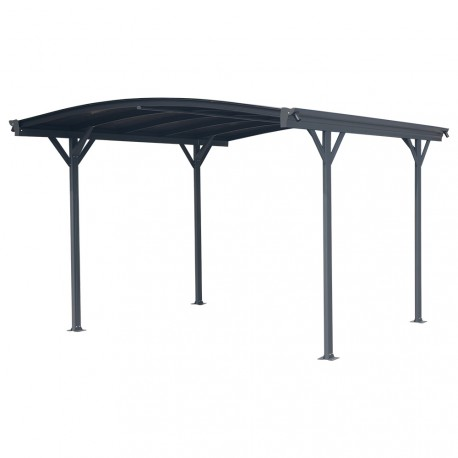 carport aus aluminium anthrazit 3x3 63m polycarbonat 6mm x metal. Black Bedroom Furniture Sets. Home Design Ideas