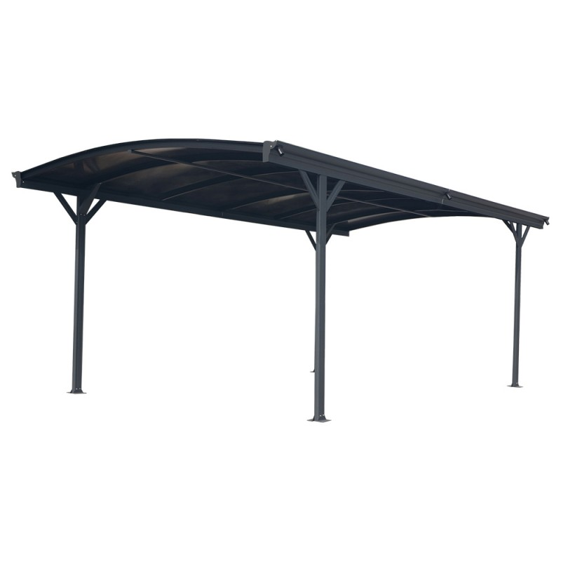 carport aus aluminium anthrazit 3x4 34m polycarbonat 6mm x metal. Black Bedroom Furniture Sets. Home Design Ideas