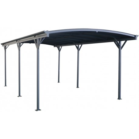 carport aus aluminium anthrazit 3x6 47m polycarbonat 6mm. Black Bedroom Furniture Sets. Home Design Ideas