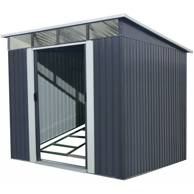 gartenhaus aus metall 6 67m skylight anthrazit verankerungskit x metal. Black Bedroom Furniture Sets. Home Design Ideas