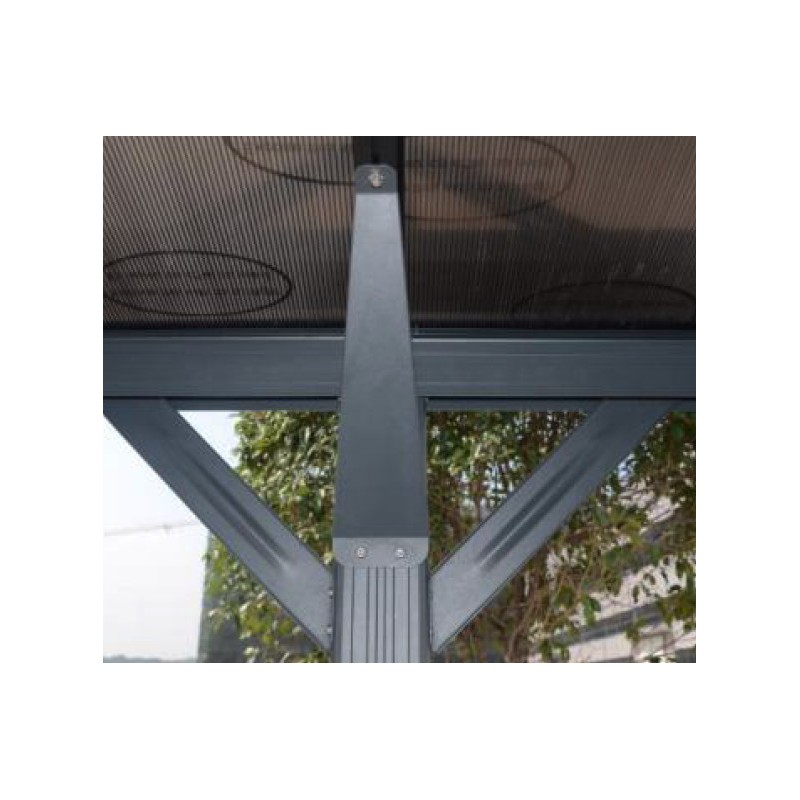 carport aus aluminium anthrazit 3x6 47m polycarbonat 6mm x metal. Black Bedroom Furniture Sets. Home Design Ideas