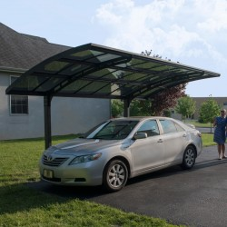 Carport aus Aluminium anthrazit und Polycarbonat 2mm Arizona Breeze 5000 - Palram